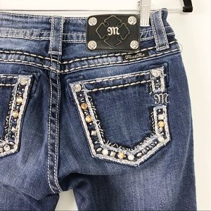 Miss Me Bootcut Studded Pocket Jeans